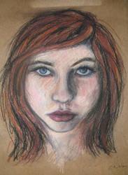 Pastel Portrait Study I by CameronCN