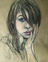 Pastel Portrait Study III by CameronCN