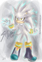 .::Silver the hedgehog::. by navi-the-cute-fairy
