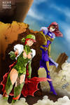 Fenian and Lady Arete by Mykemanila