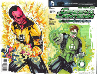 FSA - Green Lantern vs Sinestro by Mykemanila