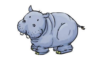 Happy Hippo by cuteness