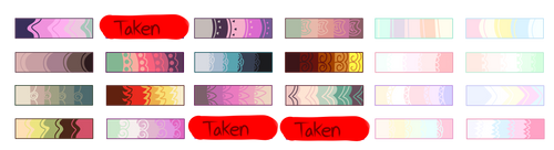 Mlp Color Palette Adopts *OPEN* *MORE COLORS ADDED by Conspivacy