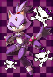 Blaze the punk kitty by nancher