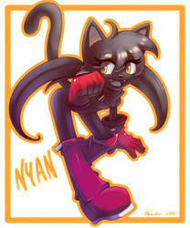 Fannie  the cat by nancher