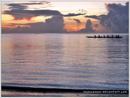 Paddlers of Guam by monicasaur