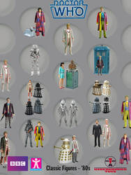 Doctor Who Action Figures '80s by SontaranCyberman