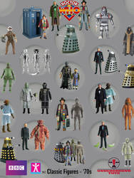 Doctor Who Action Figures '70s by SontaranCyberman