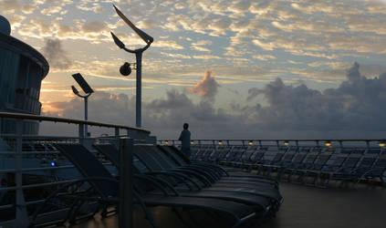 Sunset at Sea2 by abelamario