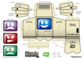 Friendly Computer v2.2 Papertoy by beraka