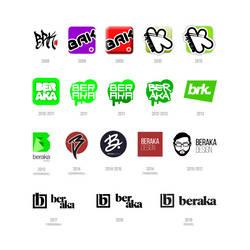 Personal Logo Evolution 2008-2019 by beraka