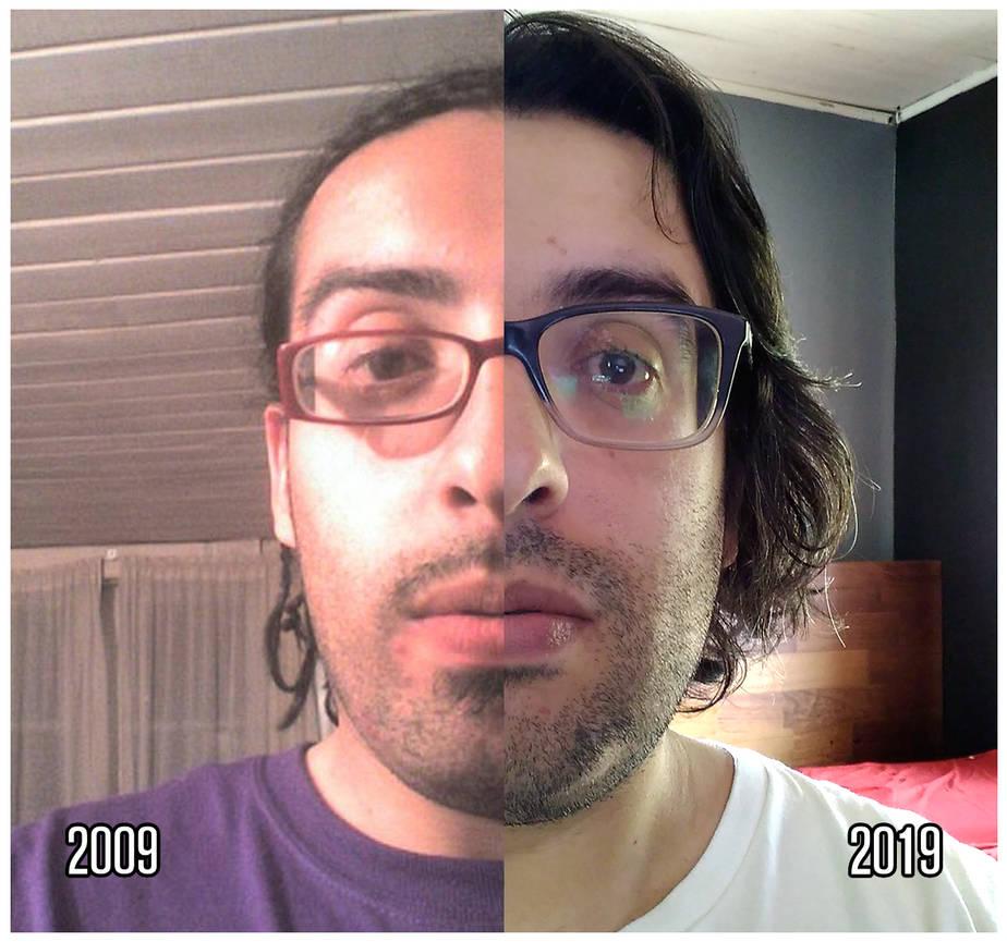 #10YearsChallenge 2009 vs 2019 by beraka