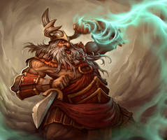 barbarian dwarf by Murph3