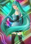 Hatsune Miku by phobialia