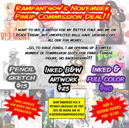 Rampant404's November 2018 Commission Deal by rampant404