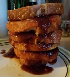 Kozak's Applewood BBQ Pork Chop Sandwich by Kozak-the-Insomniac