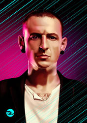 Chester Bennington, Linkin Park by titi-artwork