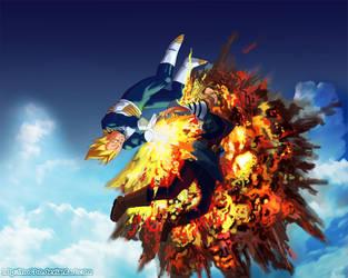 Dragonball Multiverse - Vegeta VS 18 by hoCbo