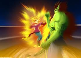 DragonBall Multiverse - SSJ Pan VS Super Bojack by hoCbo