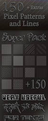 Pack 150 Pixel Patterns and Lines by rflfn