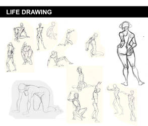 Assorted Life Drawings by kbakonyi