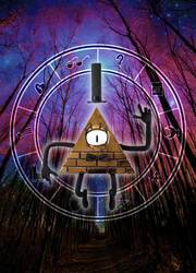 Bill Cipher and Cipher Wheel by kbakonyi