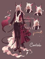 Comm:. Carlisle Character Sheet by izu-min