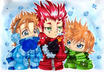 Trio Winter by KeyshaKitty