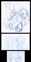 1AM chibi doodles by KeyshaKitty