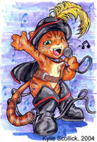 Singing Kitty by KeyshaKitty