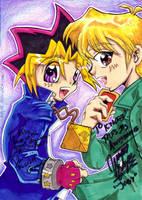 Yuugi and Jou - Autographed by KeyshaKitty