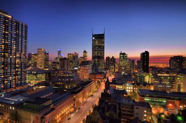 Melbourne City Night Skyline by AutumnRaineLifez