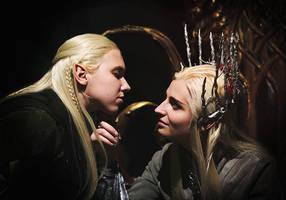 Thranduil and Legolas. Mirkwood Realm |2 by the-ALEF