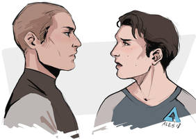Markus and Connor by the-ALEF