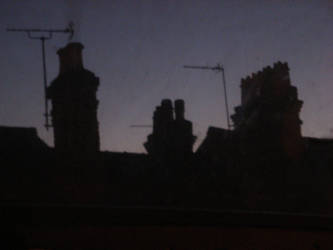 Chimneys at dusk by heavy-metal-manga