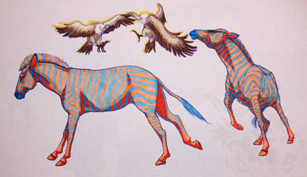 Prisma Zebras by Kanina-Firefox