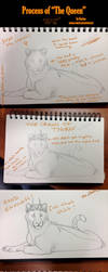 Process of THE QUEEN by Kanina-Firefox