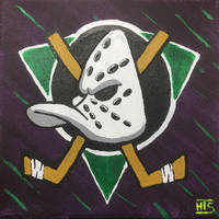 Mighty Ducks Logo Canvas Painting by Whooogo