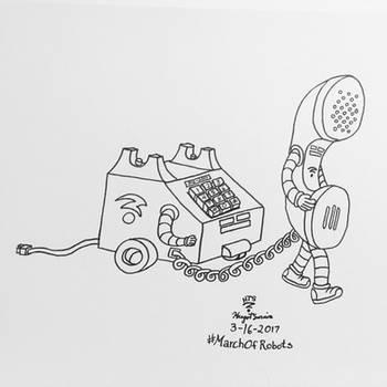 TelephoneBots - Handset  Base by Whooogo