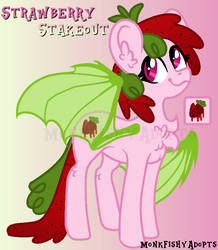 Strawberry Stakeout - Pony Offer To Adopt - SOLD by MonkFishyAdopts