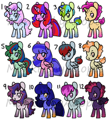 Tomboy Pony Adoptables - OPEN by MonkFishyAdopts