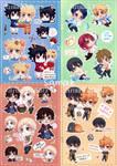 Chibi stickers (INSTOCK NEW PRICES) by arisa-chibara