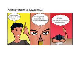 Comic strip practice by Salvador-Raga