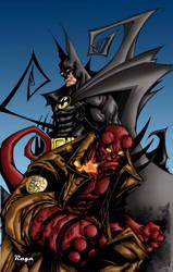 Batman-Hellboy colors by Salvador-Raga