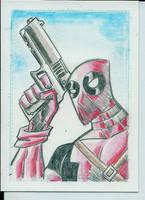 Deadpool sketch card by Salvador-Raga