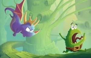 Spyro / Rayman Legends Mash-up by math-o-matic