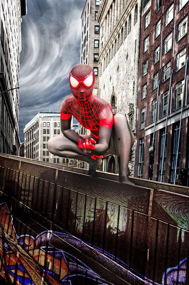 Miles Morales In the City by geoectomy
