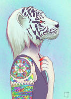 Tigris Albus Dominae by SuperPhazed