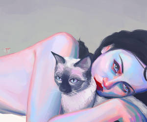 Girl with Cat by SuperPhazed