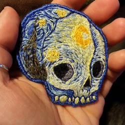 Vincent Van Skull, Starry Night by MalumDiscordiae